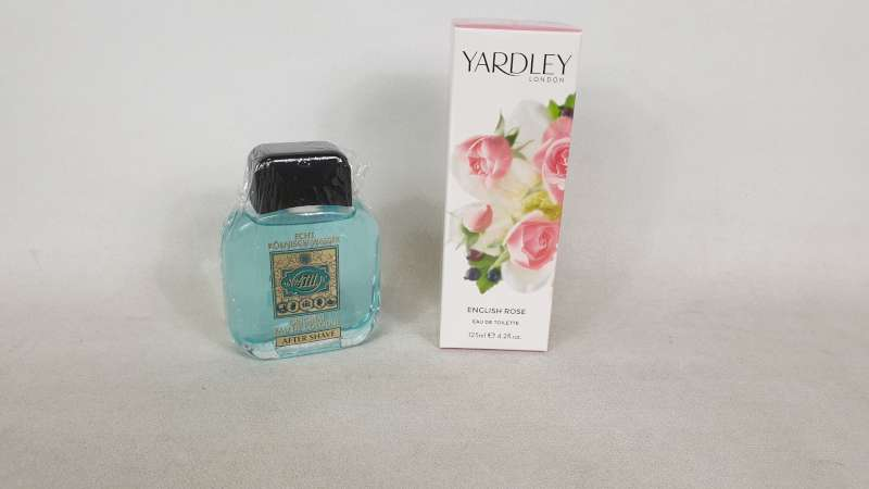 Lote 25 - LOT CONTAINING 18 X 100ML BOTTLES OF AFTERSHAVE AND 7 X 125ML YARDLEY LONDON ENGLISH ROSE EAU DE