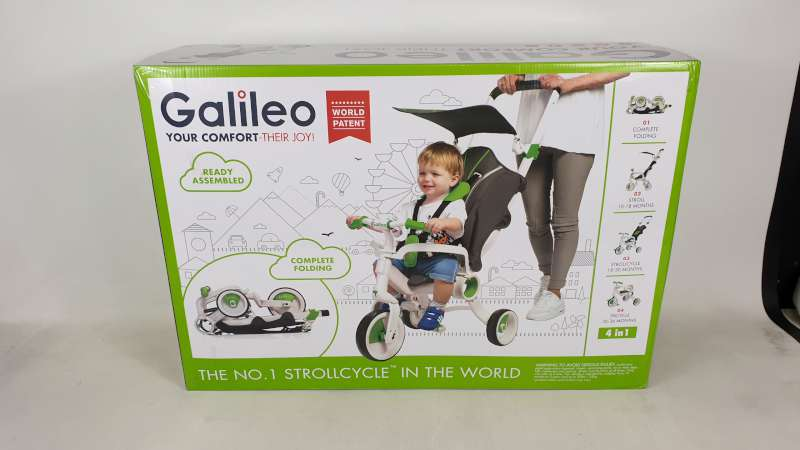 Lote 1 - BRAND NEW BOXED GALILEO 4 IN 1 FOLDABLE STROLLCYCLE