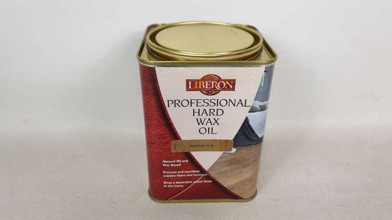 15 X 1 LITRE LIBERON MEDIUM OAK COLOURED PROFESSIONAL HARD WAX OIL