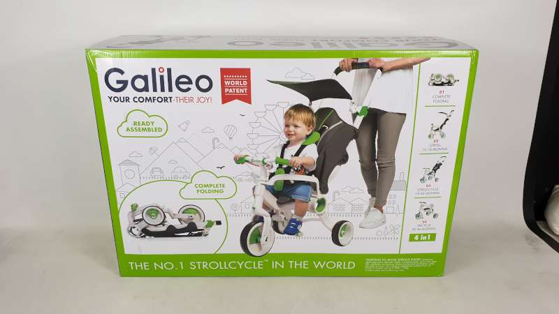 Lote 9 - BRAND NEW BOXED GALILEO 4 IN 1 FOLDABLE STROLLCYCLE