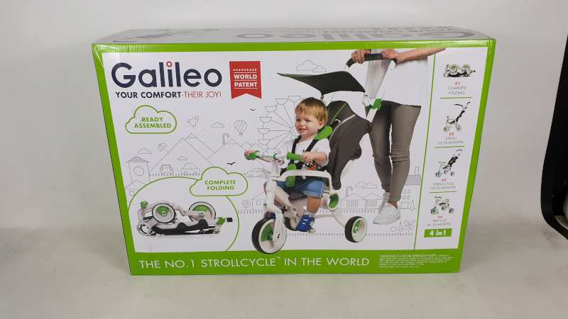 Lote 3 - BRAND NEW BOXED GALILEO 4 IN 1 FOLDABLE STROLLCYCLE
