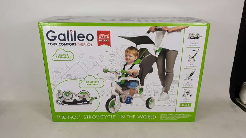 Lote 10 - BRAND NEW BOXED GALILEO 4 IN 1 FOLDABLE STROLLCYCLE