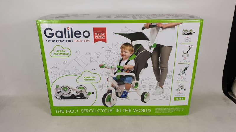 Lote 7 - BRAND NEW BOXED GALILEO 4 IN 1 FOLDABLE STROLLCYCLE