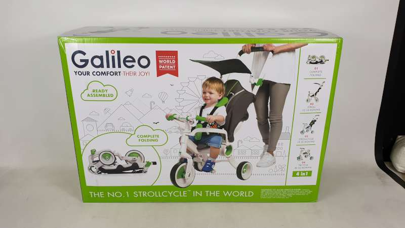 BRAND NEW BOXED GALILEO 4 IN 1 FOLDABLE STROLLCYCLE