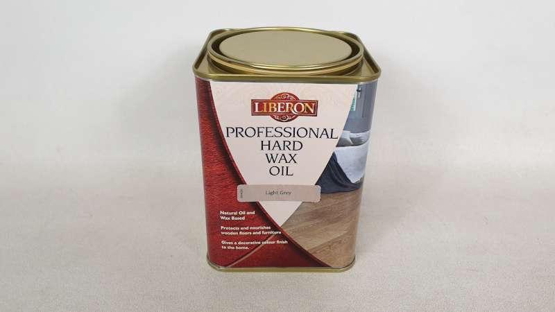 Lote 171 - 15 X 1 LITRE LIBERON PROFESSIONAL HARD WAX OIL COLOUR LIGHT GREY