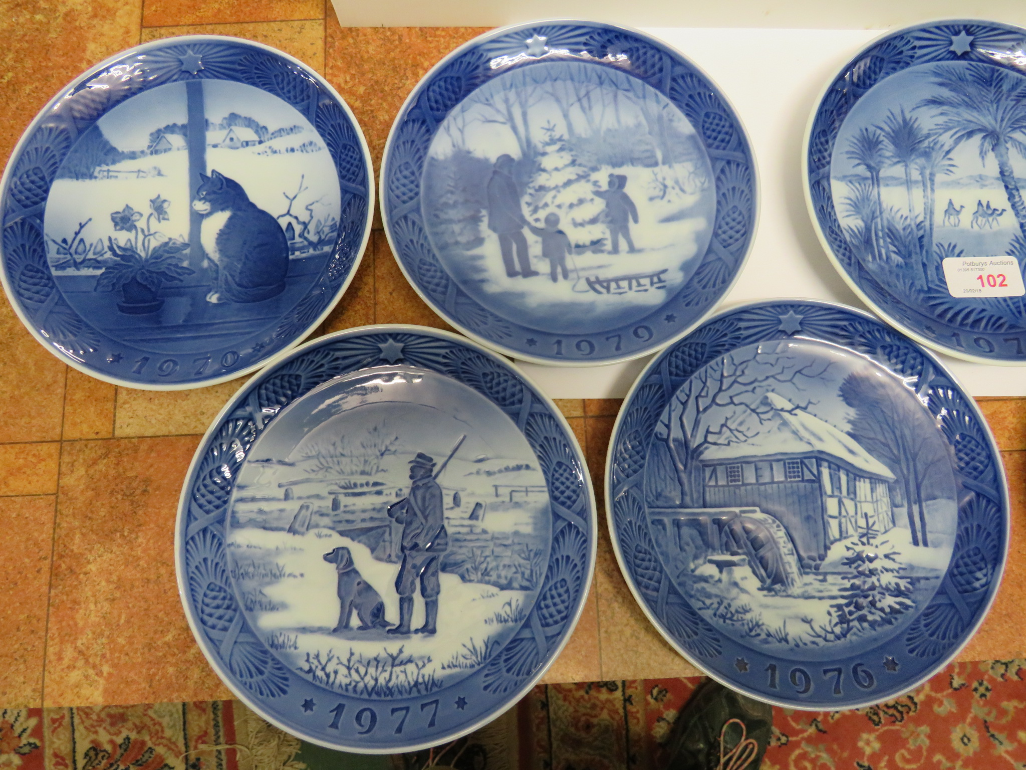 Lot 102 - SEVEN ROYAL COPENHAGEN CHRISTMAS PLATES