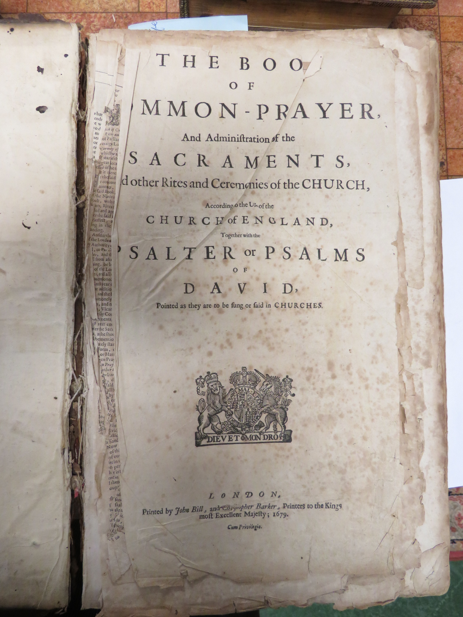Lot 112 - 17TH - 19TH CENTURY BIBLES AND THEOLOGY - 'THE SECOND VOLUME OF ANNOTATIONS UPON THE BOOKS OF THE