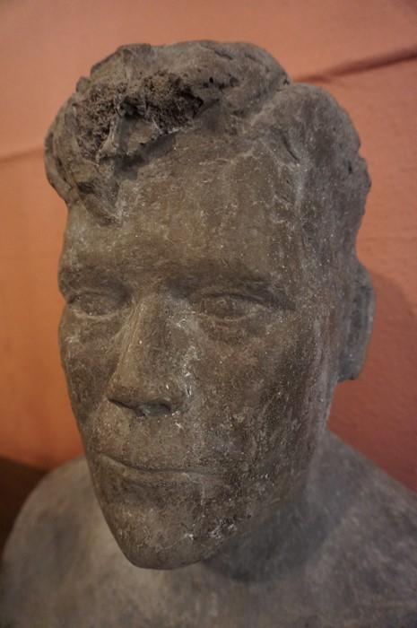 Lot 113 - Maragaret Somerville D.A (Scottish Sculpt) A Large Concrete Bust of a Male, 44cm high, The following