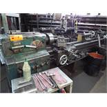 """MEUSER & CO. ENGINE LATHE WITH 18"""" SWING, APPROX. 66"""" BETWEEN CENTERS, 2"""" SPINDLE BORE, SPEEDS TO"""