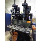 """BARNES MULTI-HEAD DRILL PRESS WITH SPEEDS TO 478 RPM, 40""""X14"""" TABLE, S/N: 023 (CI)"""