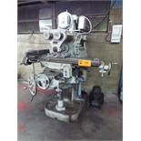 """PARKSON 2T HORIZONTAL MILLING MACHINE WITH 49""""X10"""" TABLE, SPEEDS TO 360 RPM, 8"""" MACHINE VISE,"""