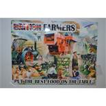 *Reproduction Enamel Sign - British Farmers Put the Best Food on the Table