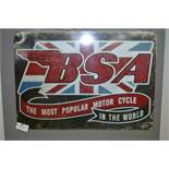 *Reproduction Enamel Sign - BSA Motorcycles