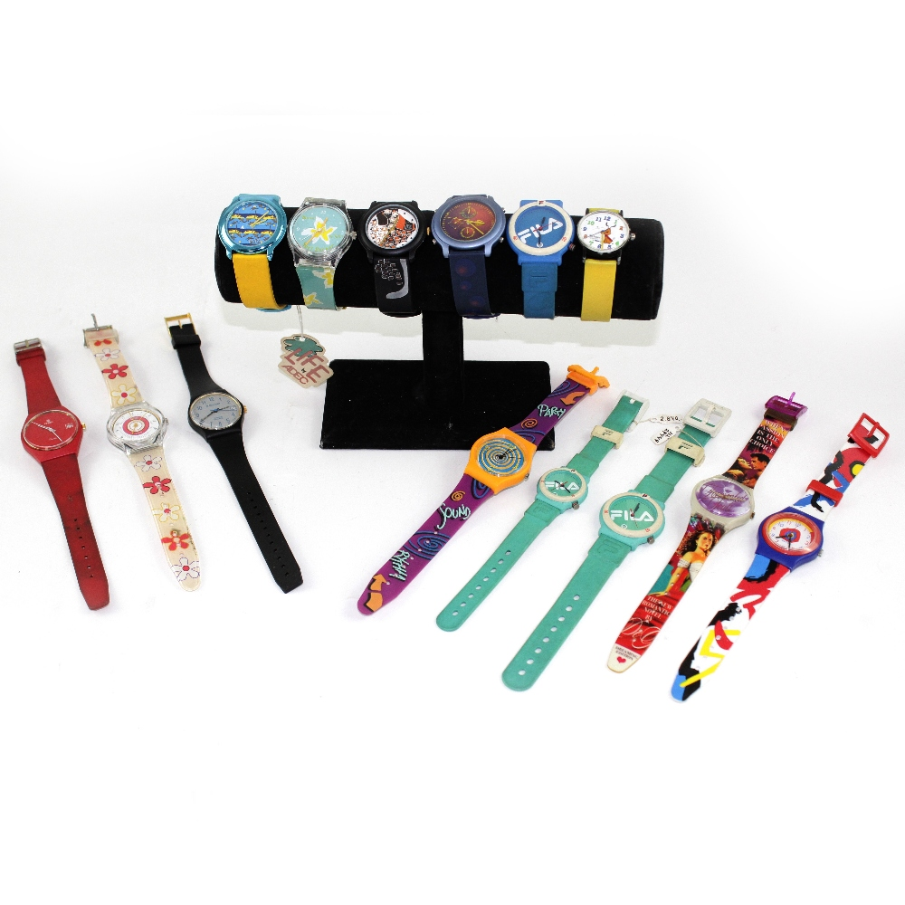 Lot 948 - A small collection of 1990s Swatch-style watches to include examples by Fila, Bekaert etc (14).