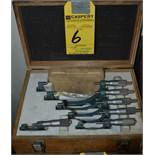 MITUTOYO 6-PC. MICROMETER SET WITH RODS