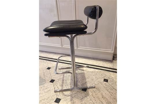 Outstanding 4 X Pieff Eleganza Bar Stools In Black Leather And Chromed Short Links Chair Design For Home Short Linksinfo