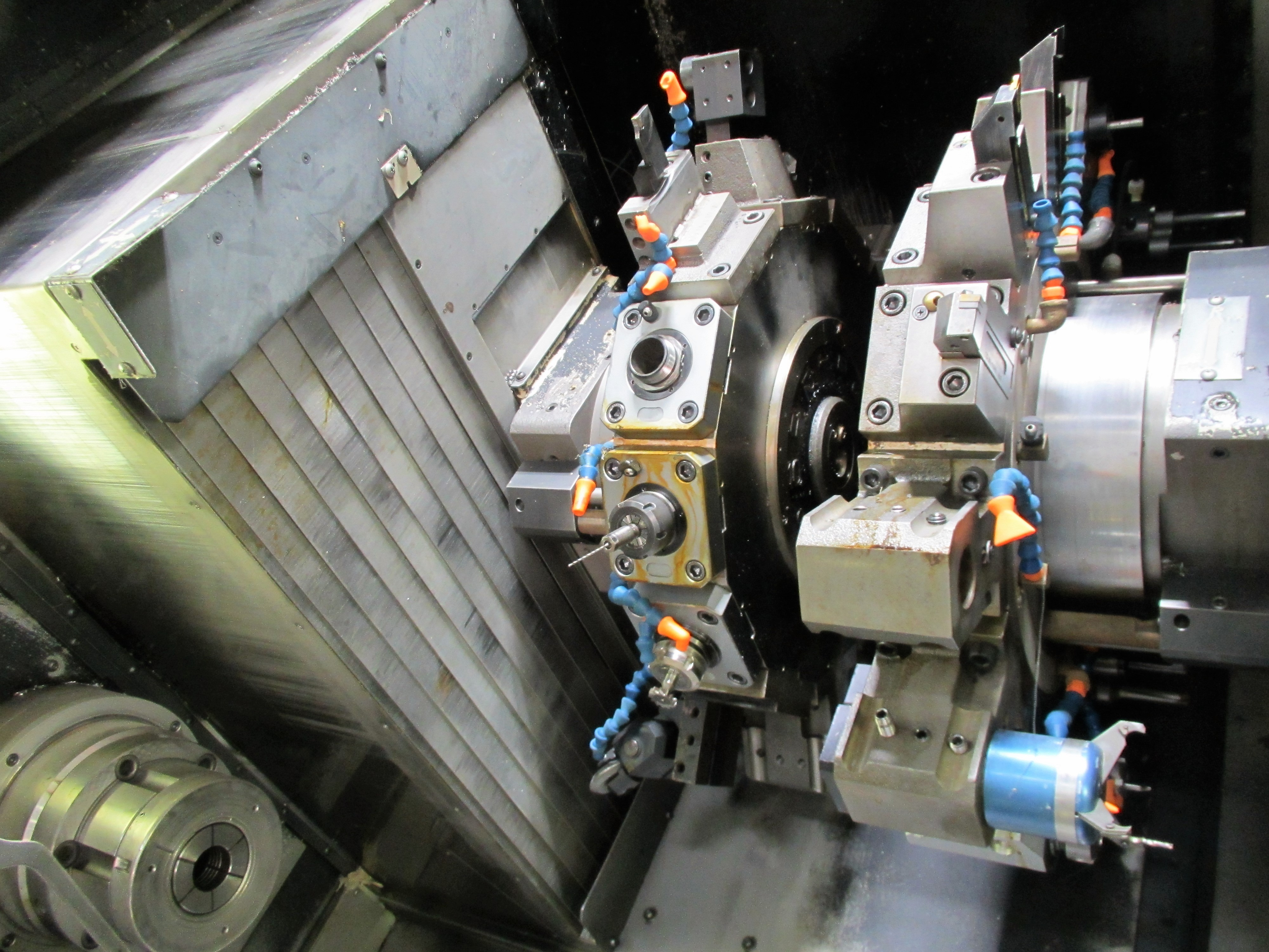 NAKAMURA TOME TW-30MM 7-AXIS CNC TWIN SPINDLE TURNING CENTER - Image 8 of 21