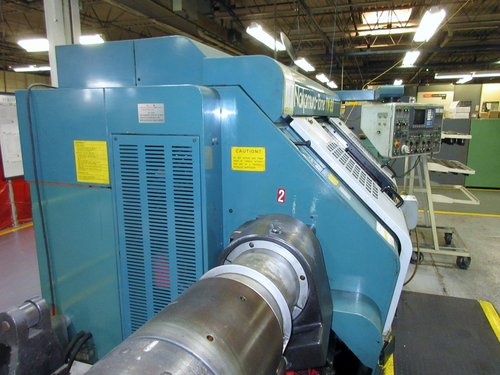 NAKAMURA TOME TW-20 6-AXIS CNC TWIN SPINDLE TURNING CENTER - Image 10 of 17