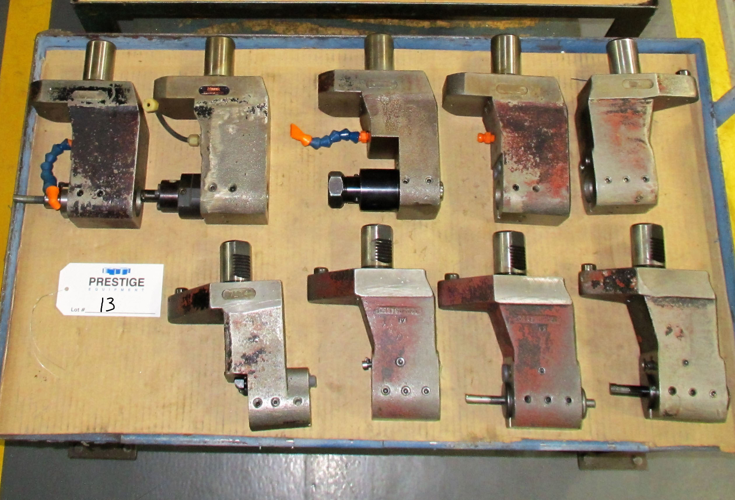 (9) I.D. Fixed/Stationary Tool Holders For Mazak QTN-250II-MSY CNC Turning Center