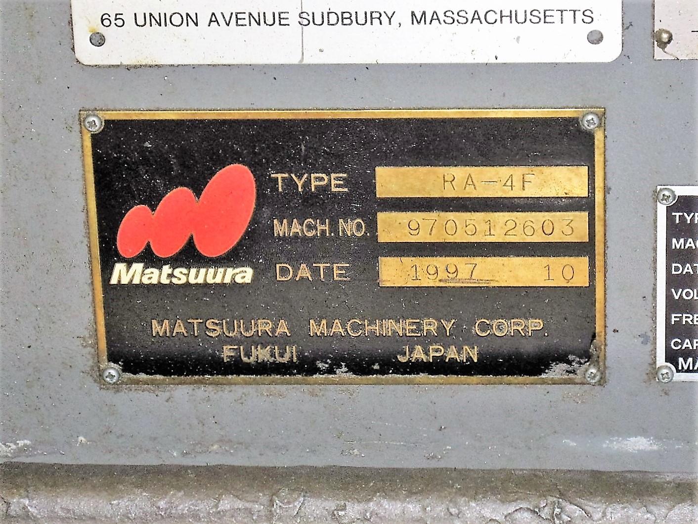 MATSUURA RA-4F CNC VERTICAL MACHINING CENTER WITH APC - Image 10 of 12