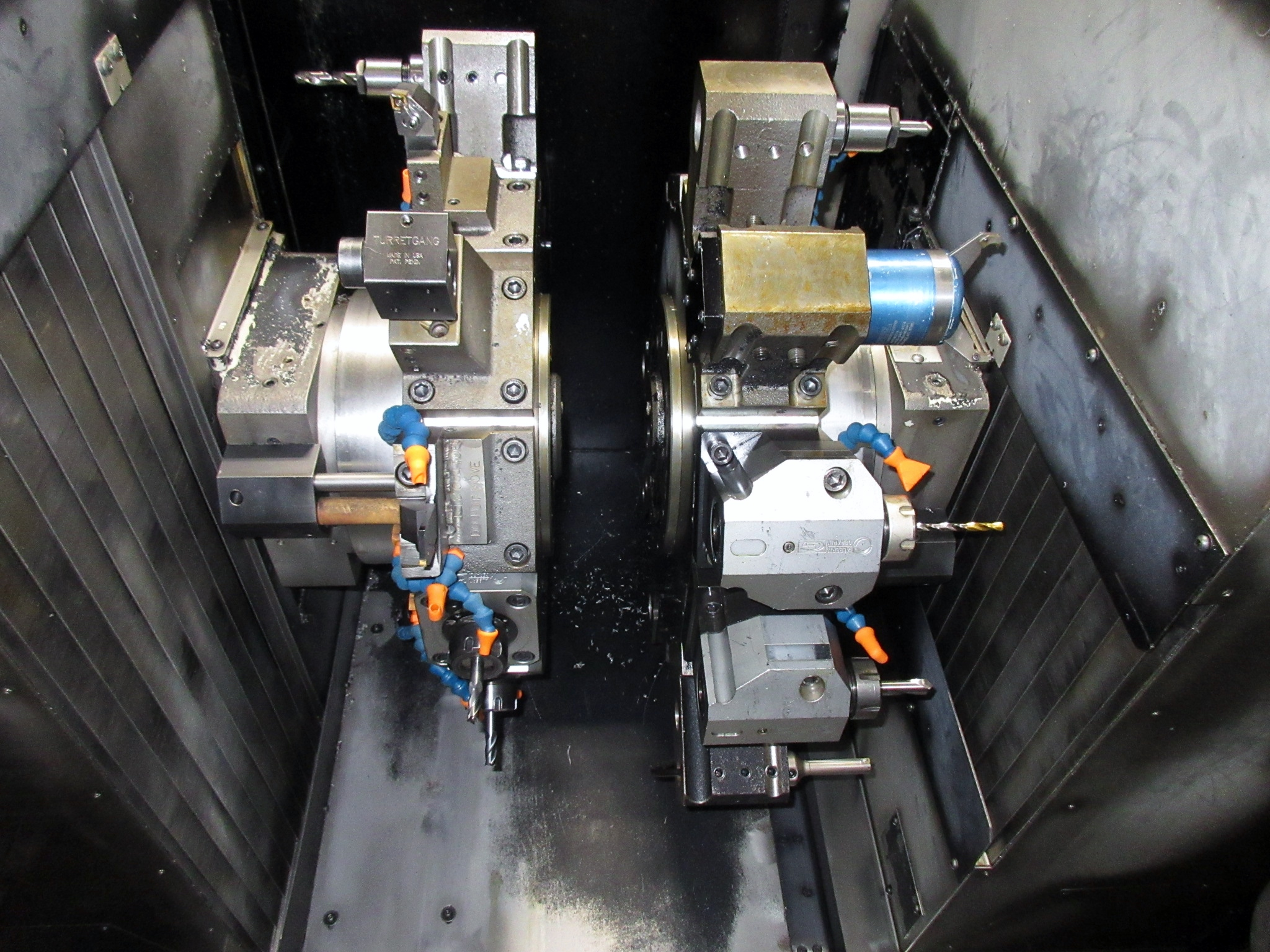 NAKAMURA TOME TW-30MM 7-AXIS CNC TWIN SPINDLE TURNING CENTER - Image 7 of 21