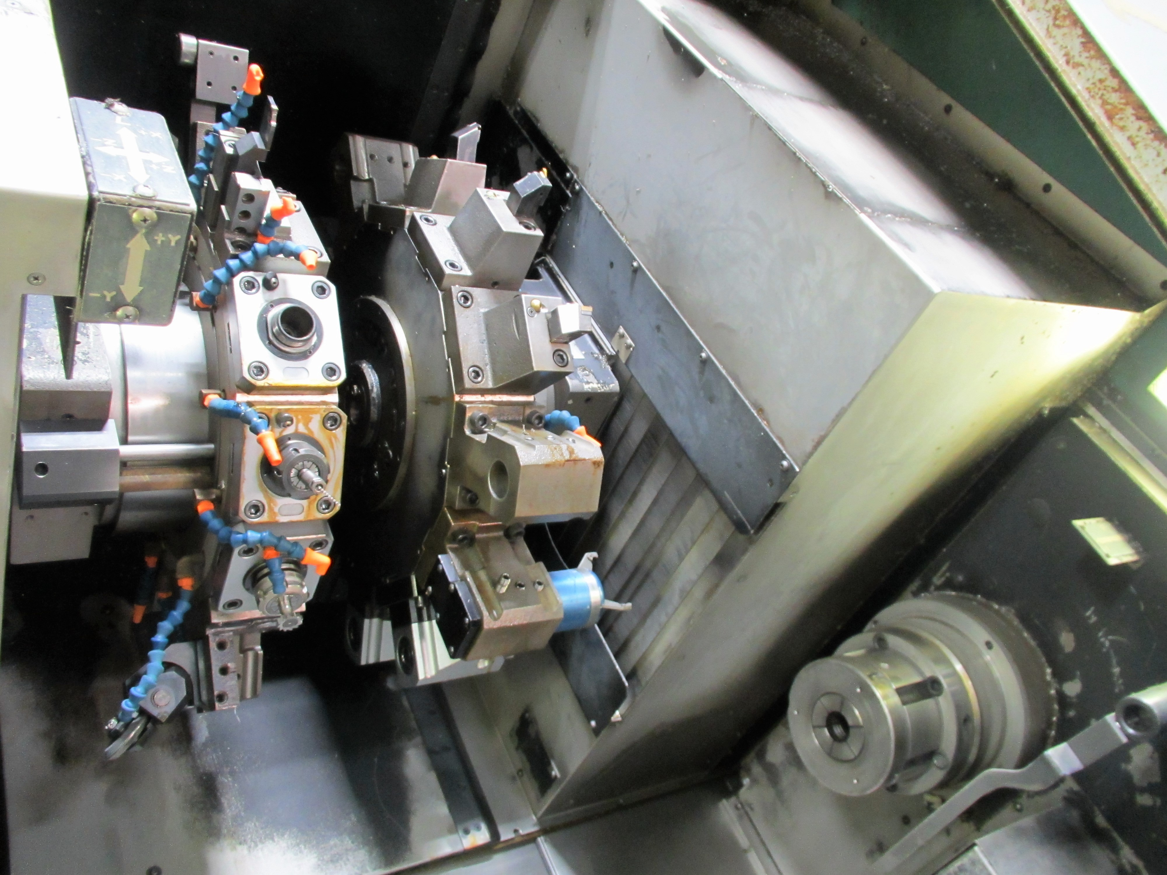 NAKAMURA TOME TW-30MM 7-AXIS CNC TWIN SPINDLE TURNING CENTER - Image 9 of 21