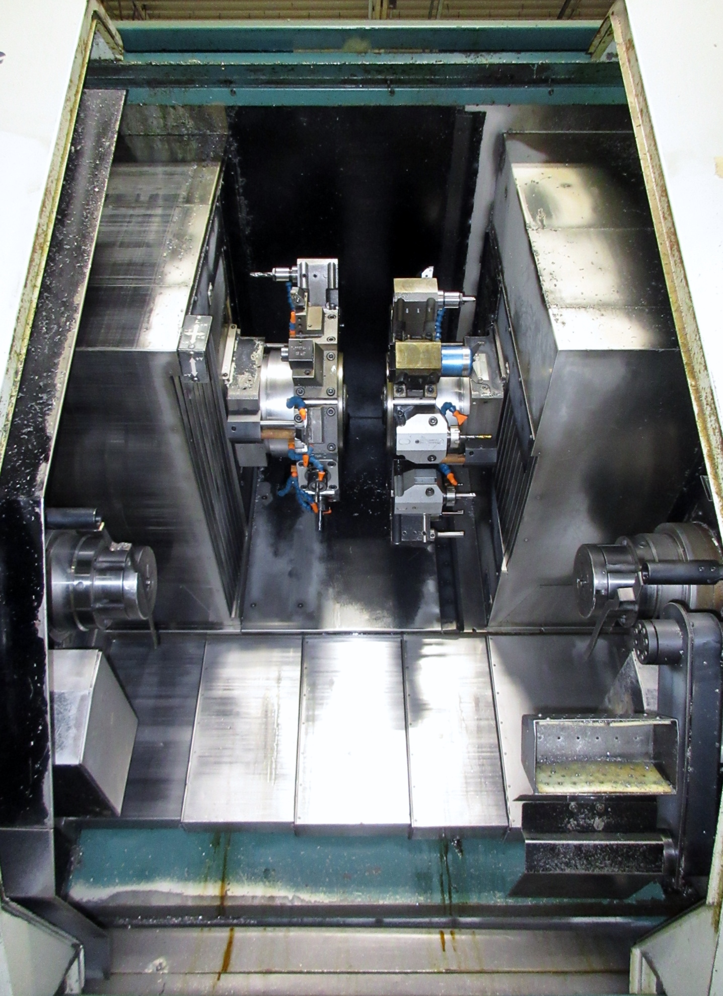 NAKAMURA TOME TW-30MM 7-AXIS CNC TWIN SPINDLE TURNING CENTER - Image 4 of 21