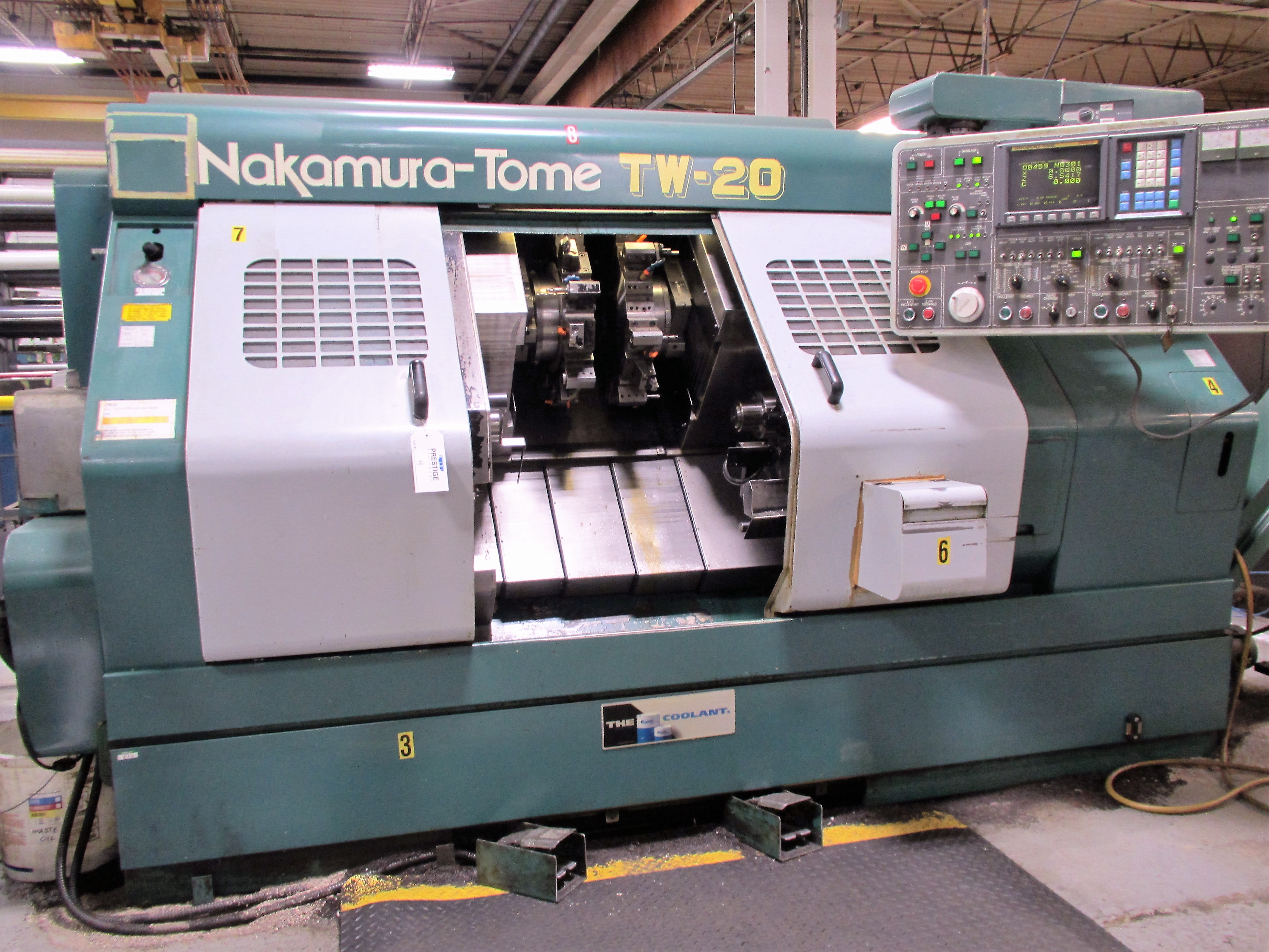 NAKAMURA TOME TW-20 6-AXIS CNC TWIN SPINDLE TURNING CENTER - Image 2 of 17