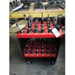 CAT-40 Tool Holders with Hout ToolScout Rolling Tool Cart