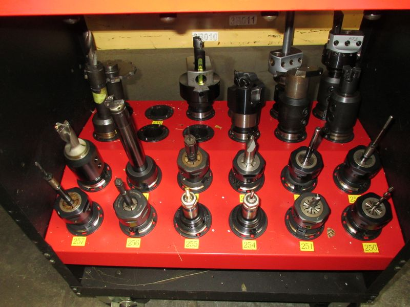 CAT-40 Tool Holders with Hout ToolScout Rolling Tool Cart - Image 3 of 4