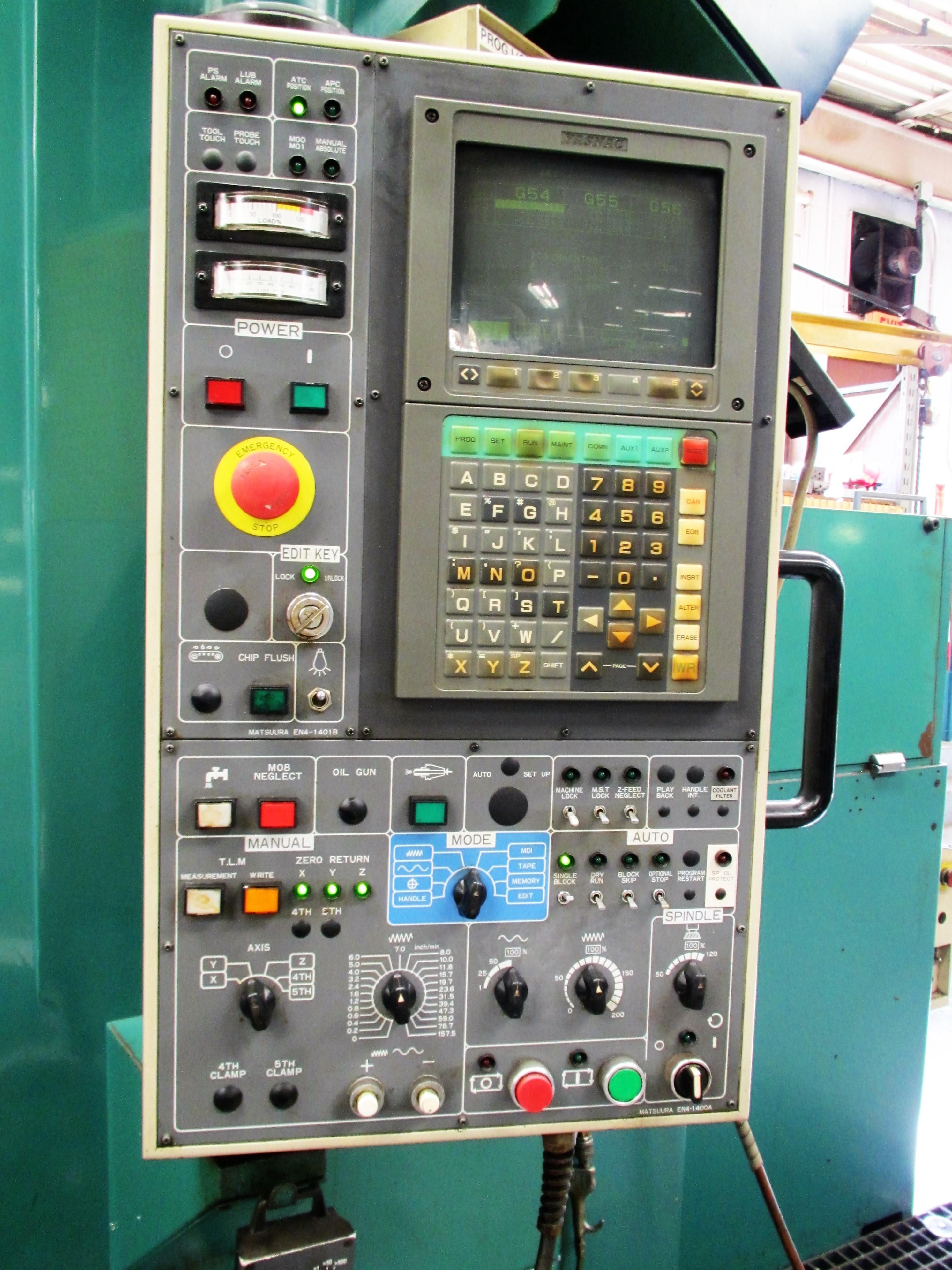 MATSUURA RA-4F CNC VERTICAL MACHINING CENTER WITH APC - Image 2 of 12