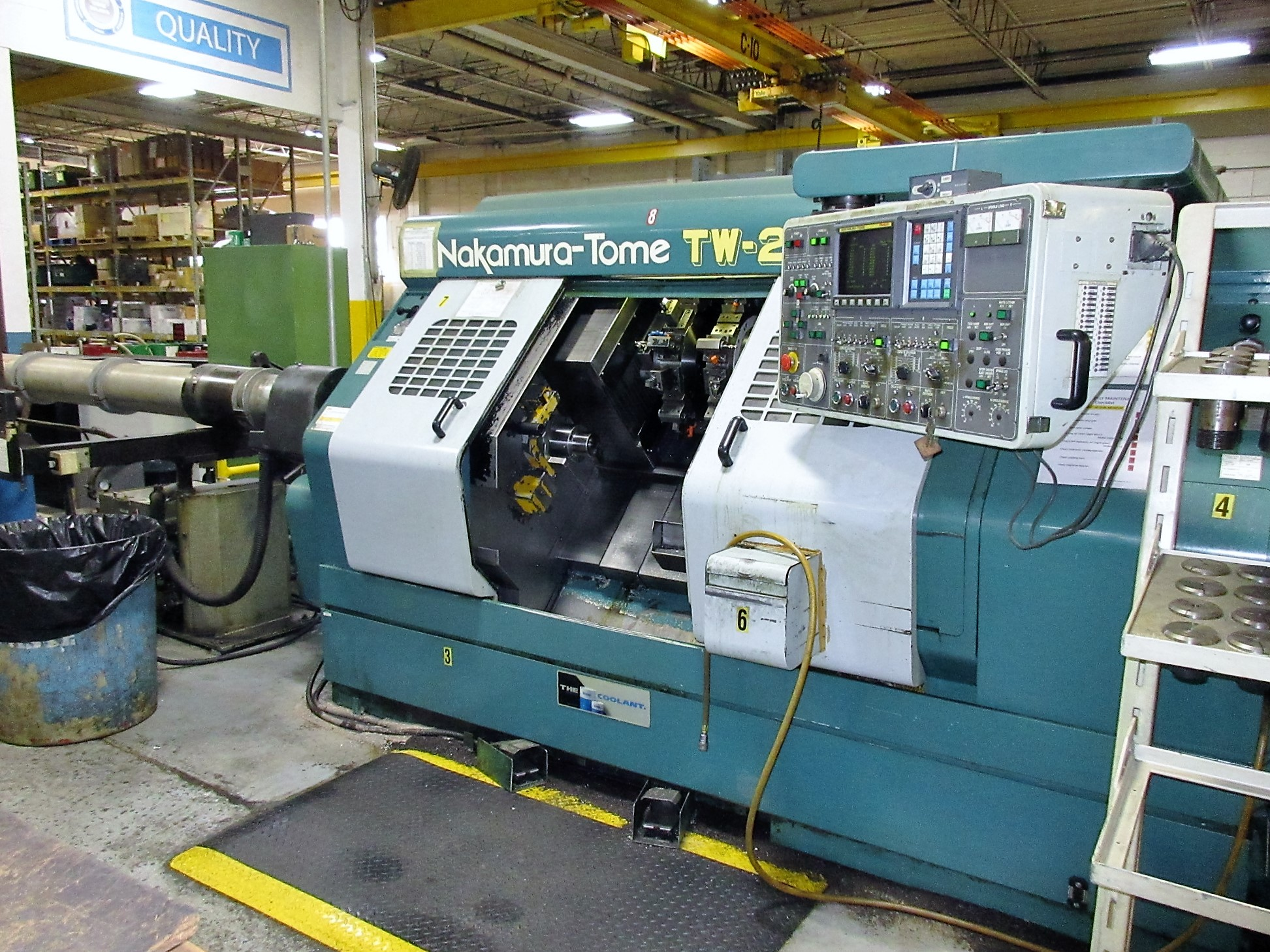 NAKAMURA TOME TW-20 6-AXIS CNC TWIN SPINDLE TURNING CENTER - Image 3 of 17