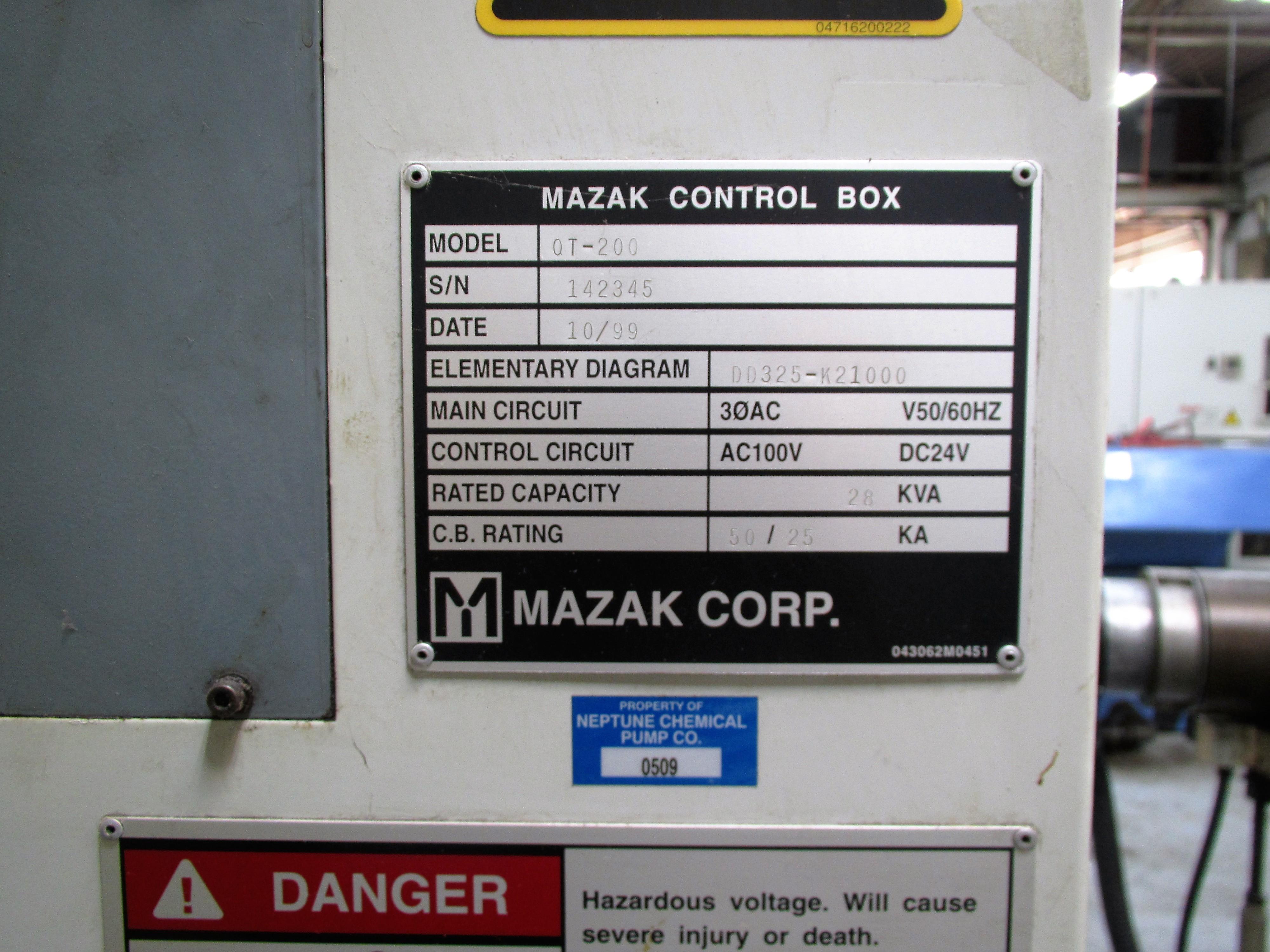 MAZAK QT-200 CNC TURNING CENTER - Image 9 of 14