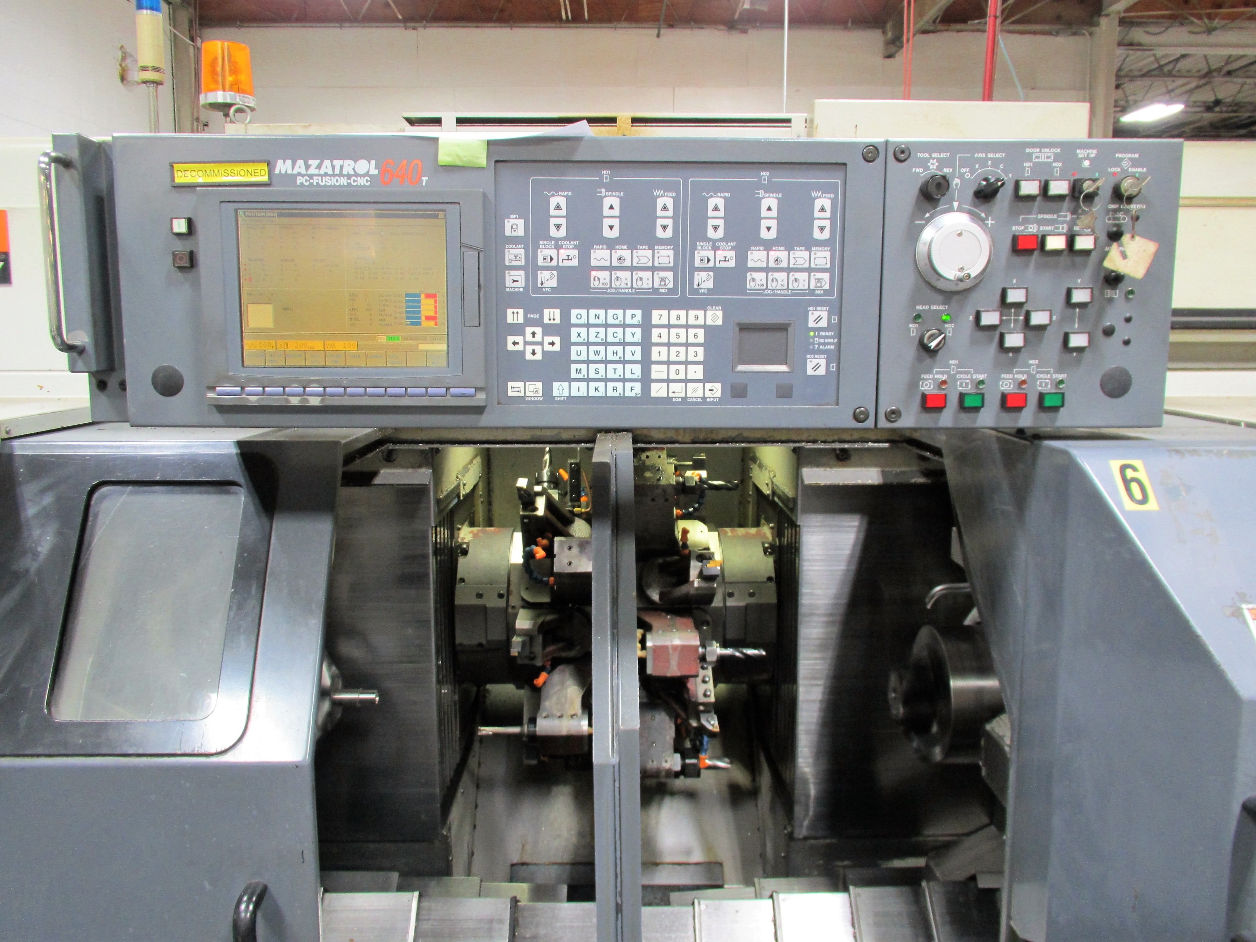 MAZAK MULTIPLEX 6200Y 8-AXIS CNC TWIN SPINDLE CNC TURNING CENTER - Image 3 of 12