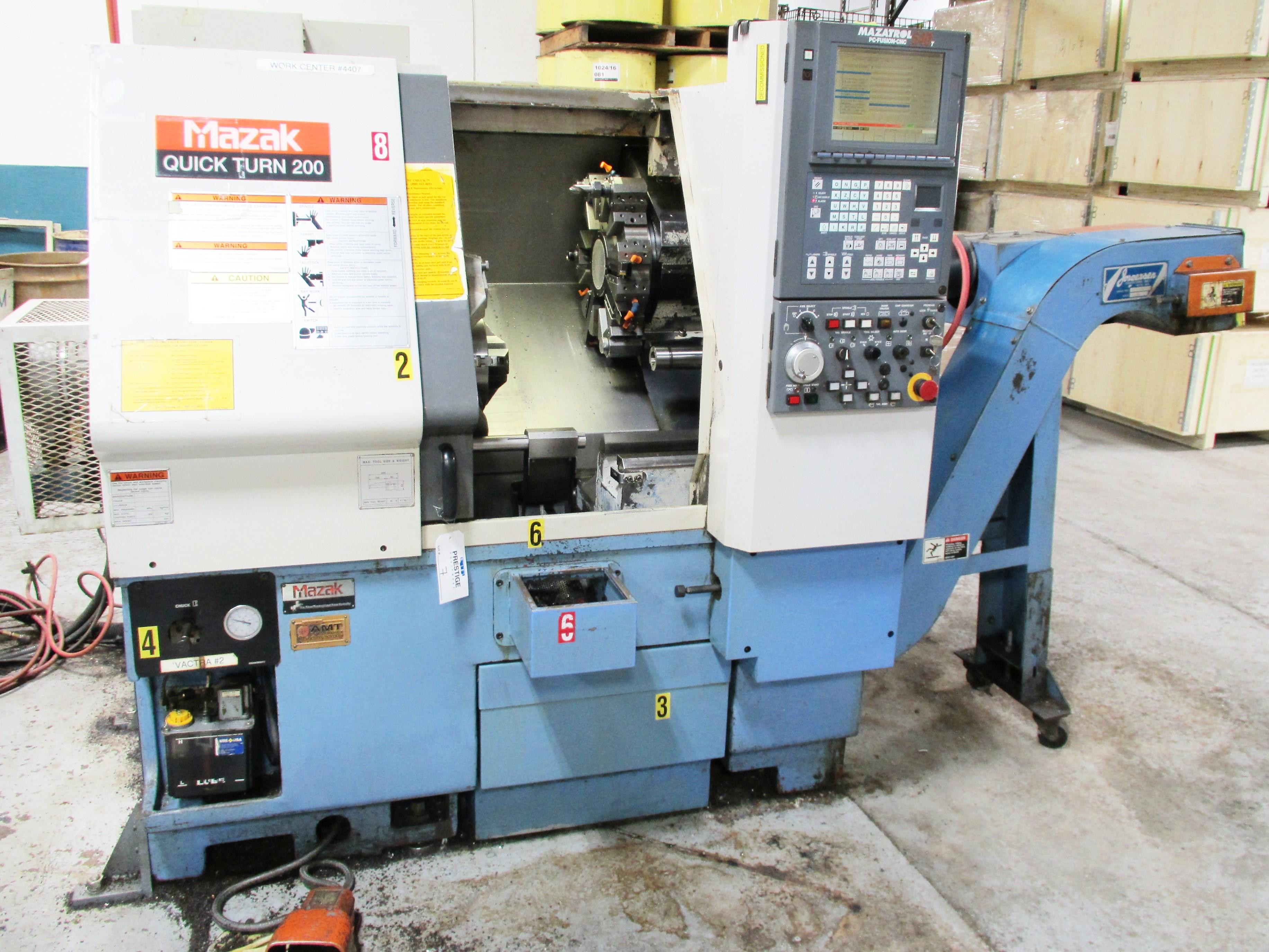 MAZAK QT-200 CNC TURNING CENTER