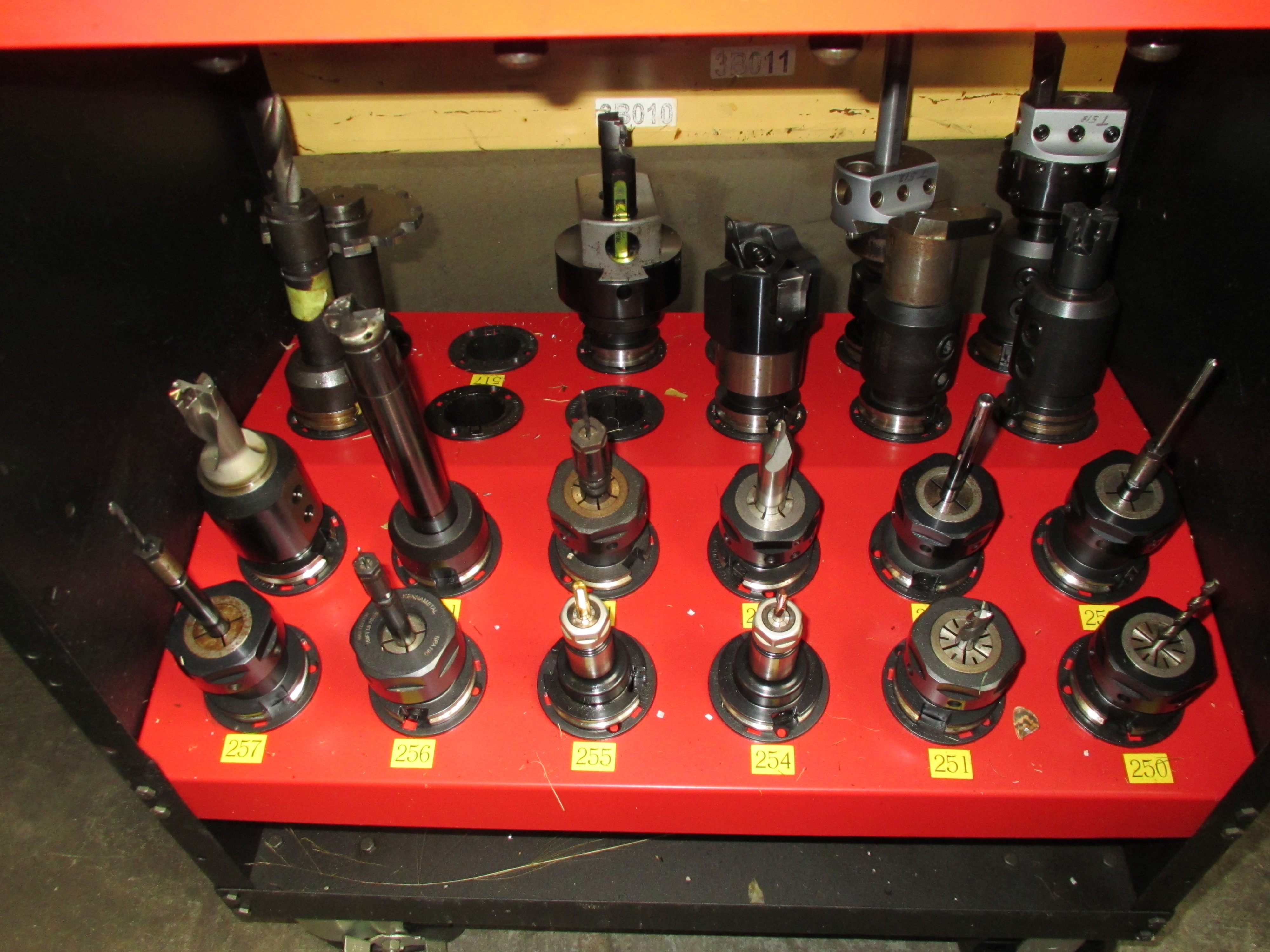 CAT-40 Tool Holders with Hout ToolScout Rolling Tool Cart - Image 4 of 4