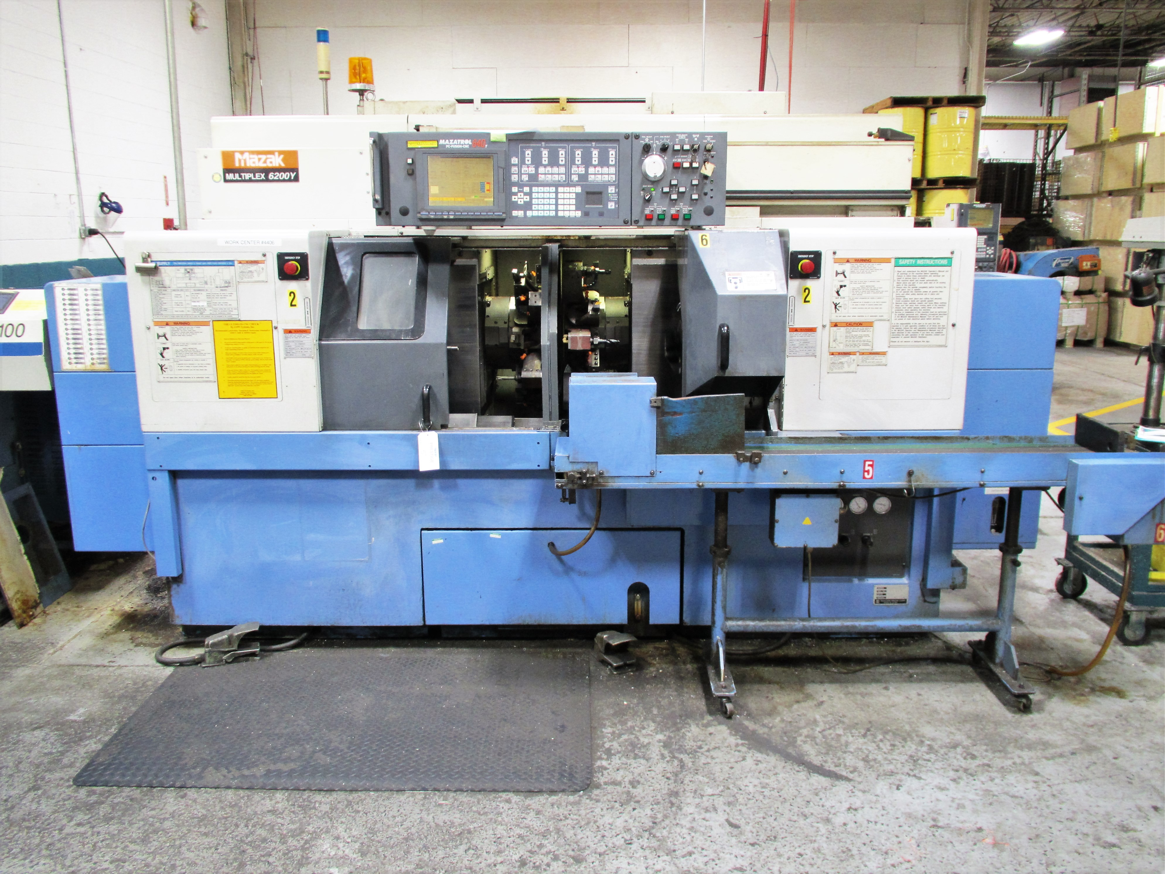 MAZAK MULTIPLEX 6200Y 8-AXIS CNC TWIN SPINDLE CNC TURNING CENTER