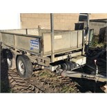IFOR WILLIAMS ELECTRIC TIPPER TRAILER - NO VAT - 8ft x 5ft