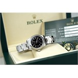 ♛ ROLEX - OYSTER PERPETUAL 26 - STEEL / BLACK DIAL (176200)