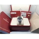 GENTS OMEGA SEAMASTER WITH BOX + CARDS