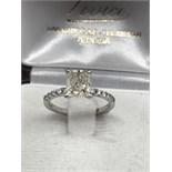 1.66ct CUSHION CUT DIAMOND SOLITAIRE RING