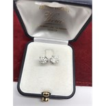 2.50ct DIAMOND SOLITAIRE EARRINGS (APPROX 1.25ct EACH)