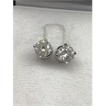 2.68ct DIAMOND SOLITAIRE EARRINGS (APPROX 1.34ct EACH)