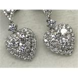 AMAZING 18ct DIAMOND HEART EARRINGS RRP £4999