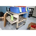 Tooling Carts with Top & Bottom Shelves, (48) Total Holding Slots, CAT 40 Taper Size (LOCATED IN