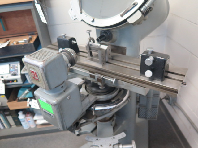 """J & L mdl. PC-14 Floor Model Optical Comparator w/ 6"""" x 30"""" Table and Acces - Image 4 of 6"""