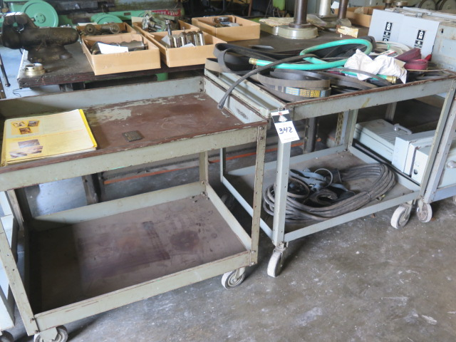 Lot 342 - Shop Carts w/ MIsc