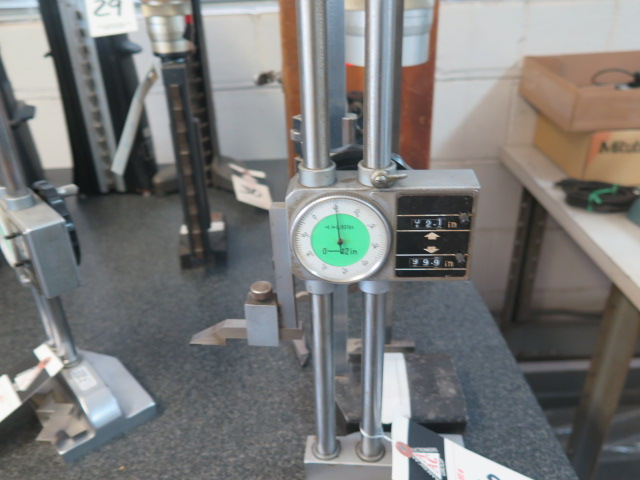 """12"""" Dial Height Gage, Metron 18"""" Vernier Height Gage and Starrett 12"""" Vernier Height Gage - Image 2 of 2"""