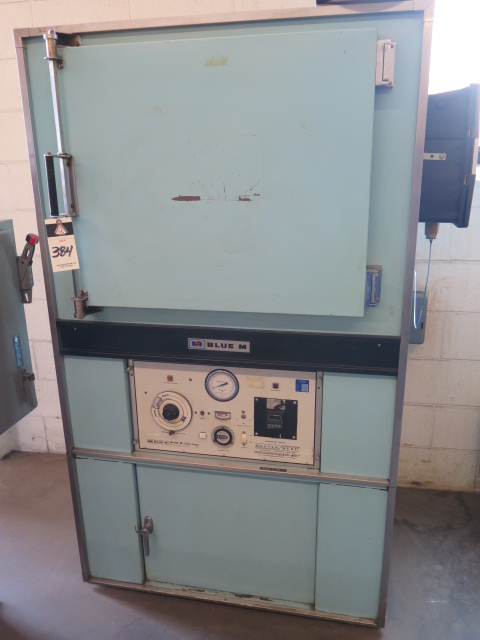 Lot 384 - BlueM mdl. POM7-256C 343C/650F Oven s/n P38-1079 w/ BlueM Controls, Chart Recorder