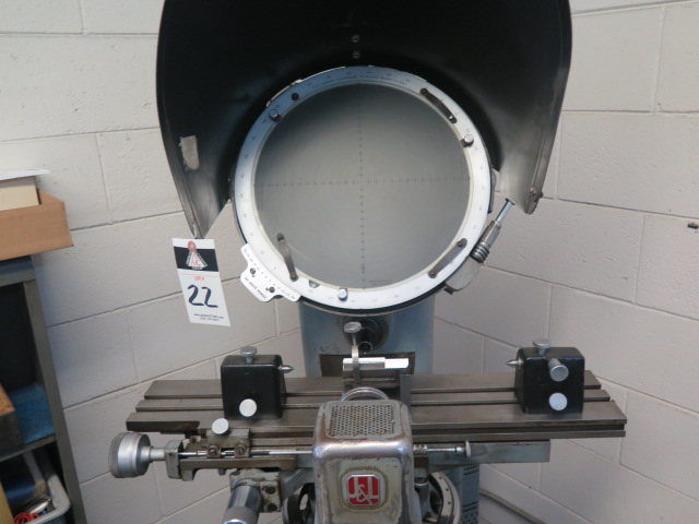 """J & L mdl. PC-14 Floor Model Optical Comparator w/ 6"""" x 30"""" Table and Acces - Image 2 of 6"""